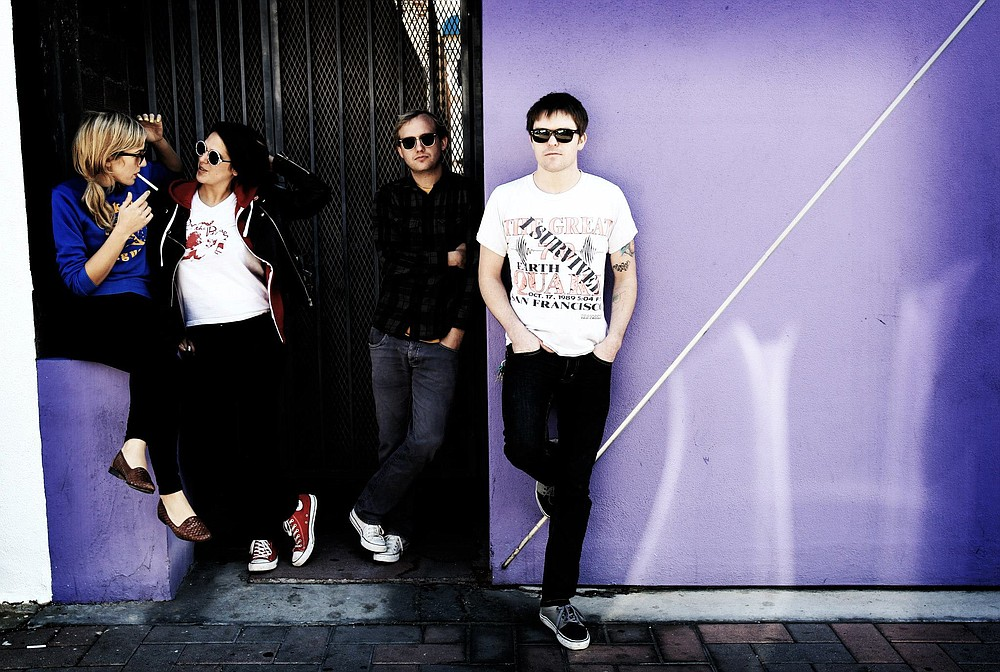 San Diego's '60s-style beach-pop band Teenage Burritos set it up at Soda Bar Friday night.