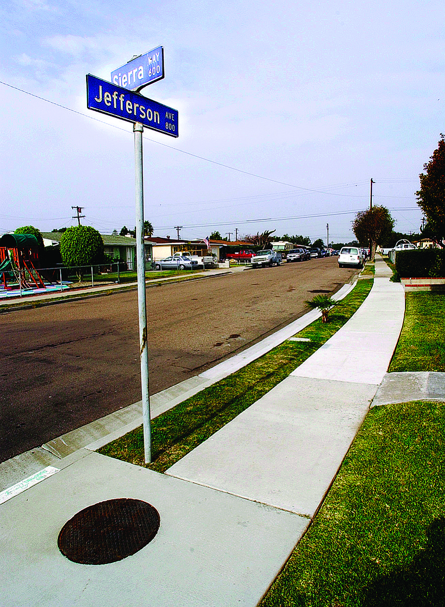 Jefferson Avenue near Sierra Way. When they encountered the Varrio Chula Vista gang, they threw their signs. Then they chased the Martinez brothers and their friends. Shots were fired.