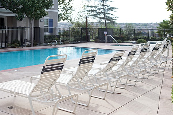 Residents would like new pool furniture.