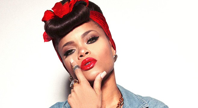 Welcome home, Andra Day! The retro vocalist takes the Casbah stage Wednesday night.