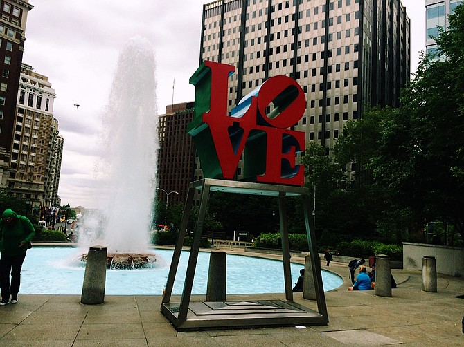 Robert Indiana's Love in JFK Plaza, Philly