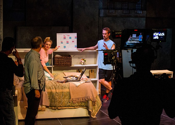 Filming Honky at the Rep for Onstage in America, airing on PBS stations nationwide. - Image by Daren Scott