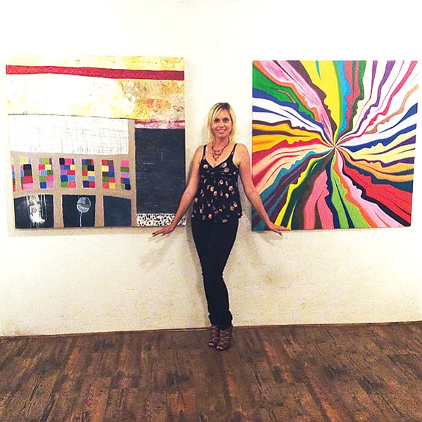 Tasha Zogo at her San Diego art gallery, Dolphin and Hawk