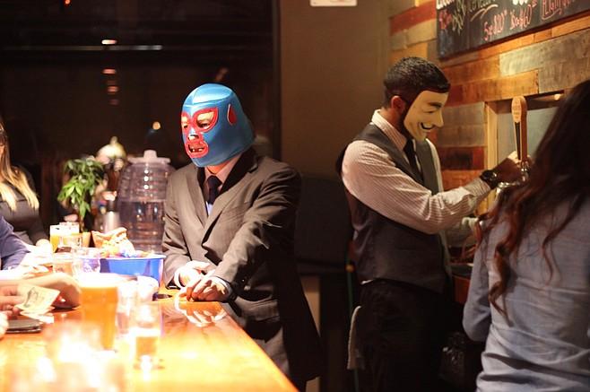 At a downtown Tijuana bar