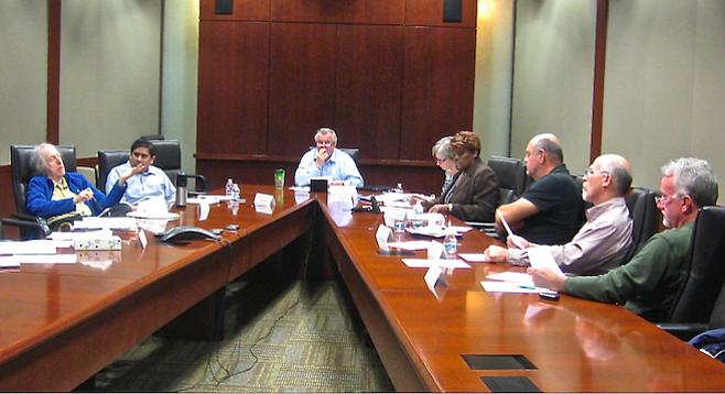 Chula Vista's Charter Review Commission (Robert Ross, far left)