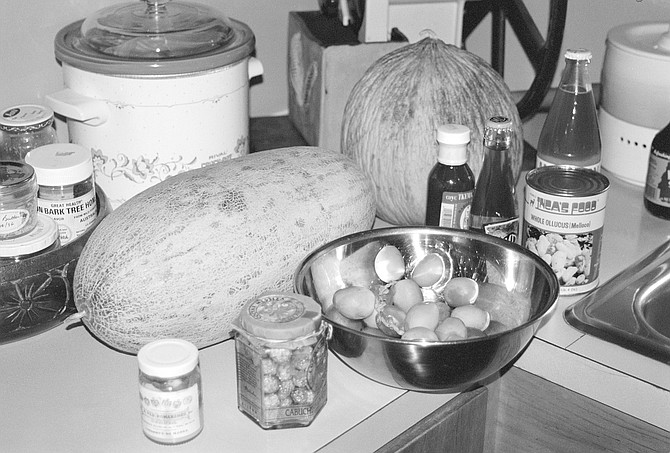 """Facciola's kitchen. """"The first edition of Cornucopia nearly killed me. It took 12 years."""""""