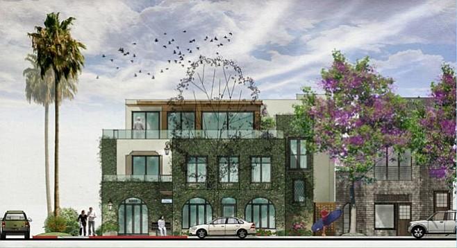 Illustration of proposed building on Avenida de la Playa