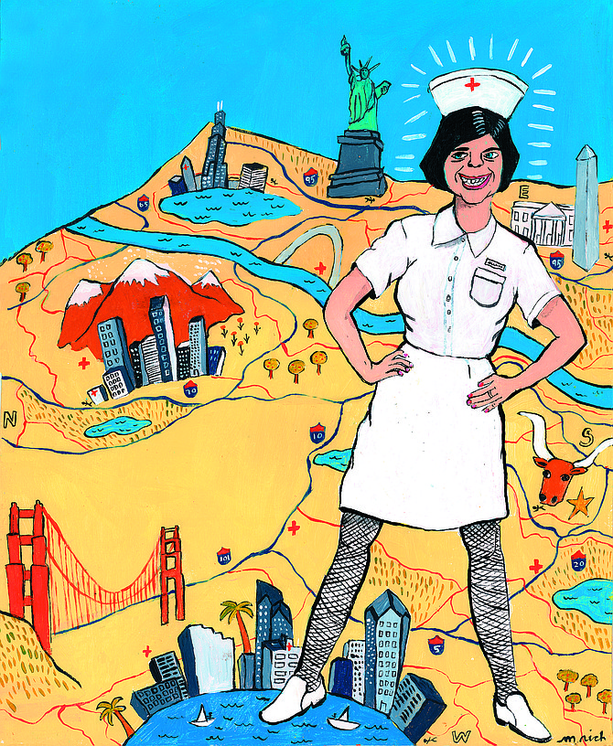 In California, San Diego nursing jobs pay the lowest - from $24 to $30 an hour. - Image by Martha Rich