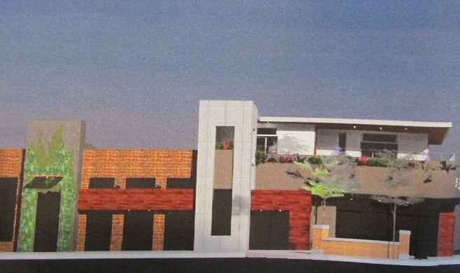 Illustration of proposed buildings to replace Encinitas Smog