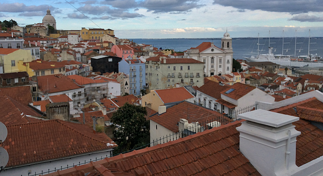 Rooftop view of Lisbon.
