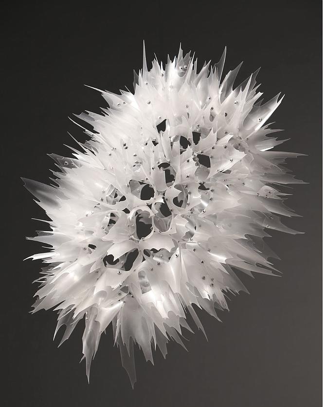 Plastic art by Aurora Robson.