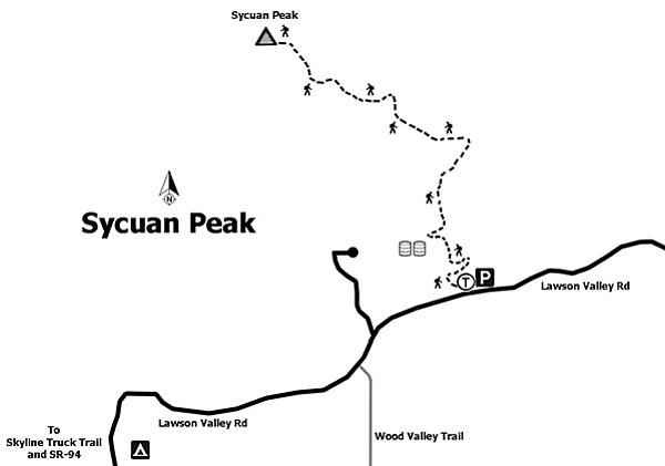 Map of Sycuan Peak