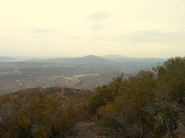The northeast view from Sycuan Peak