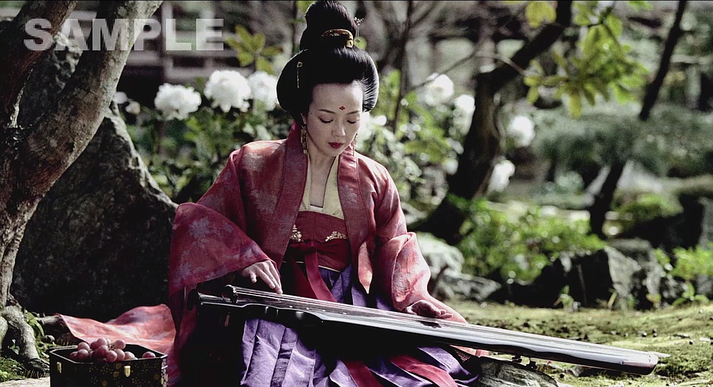 Sheu Fang-yi on the screen-widening zither.