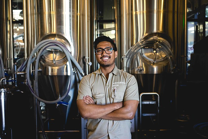 Derek Gallanosa, head brewer at Abnormal Beer Company