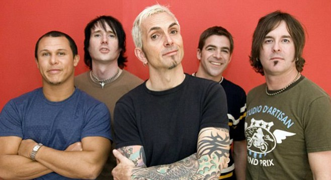 """Everclear frontman Alexakis (center): """"I'm an addict, I don't do anything halfway. [I'm] aware of my addiction in everything."""""""