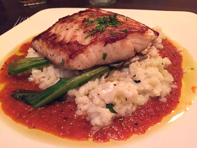 Seabass with risotto, a recommended order