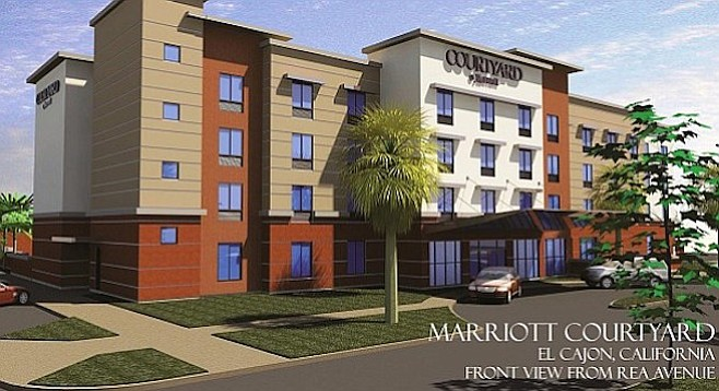 Illustration of planned hotel