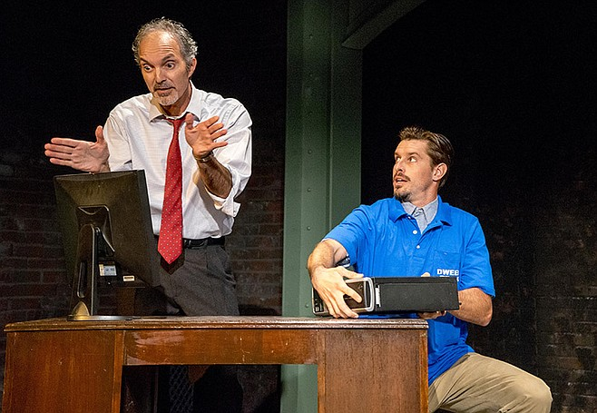 Eddie Yaroch and Justin Lang in Watson Intelligence at Moxie Theatre