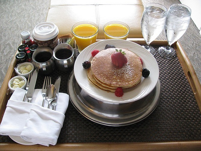 Sleep in, get room service. It doesn't have to get much harder than that.