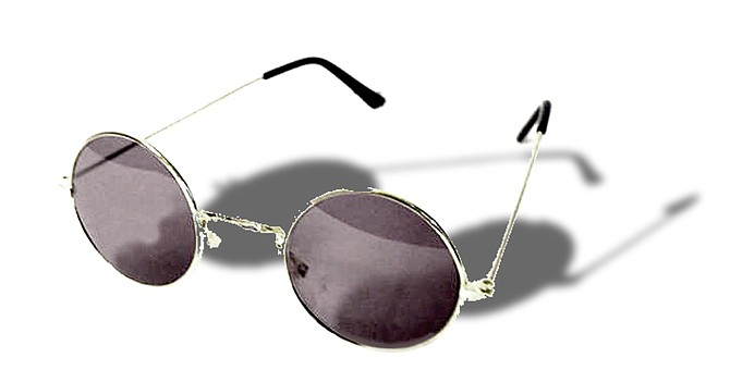 When I received Lennon-style eyeglasses under the tree, I wore them with the faux army gear.