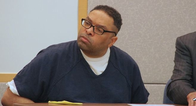 Louis Ray Perez, aka Master Ivan, looked at the judge while he pronounced sentence.