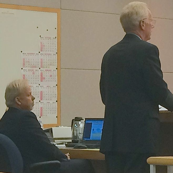 Robert Young and Paul Pfingst in court in October 2014
