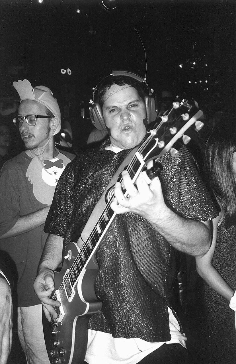 Devon Goldberg of Creedle dressed as John Reis, Rocket From the Crypt party, Halloween, Spirit Club, 1994