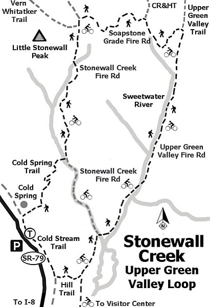 Map of Stonewall Creek