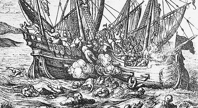Horribles cruautes des Huguenot en France, 16th century print