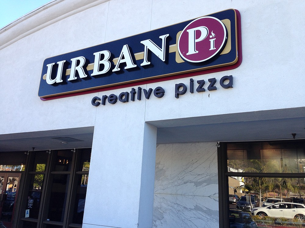 Creative pizza in a shopping center