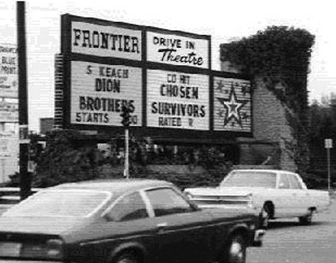 Frontier Drive-In. Movie stars Robert Wagner and Natalie Wood made opening-night appearances.