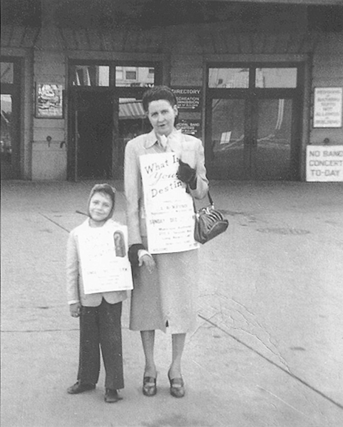 Lester Bangs and his mother, 1953. After Lester became acquainted with William Burroughs, there was never any communication between him and his mother. She was the symbol of the square world.
