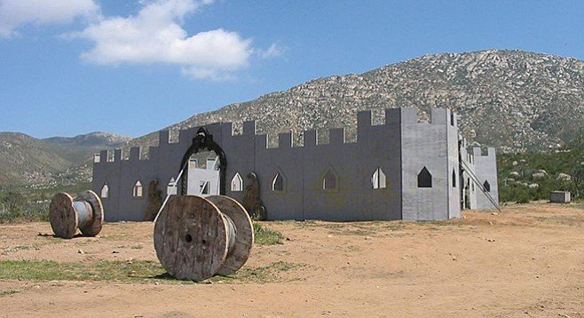 Giant San Diego Paintball and Airsoft castle field