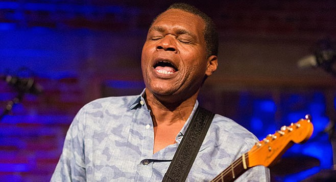 Robert Cray is an R&B vocalist ensnared in the body of a grandee blues guitarist. - Image by James L. Bass