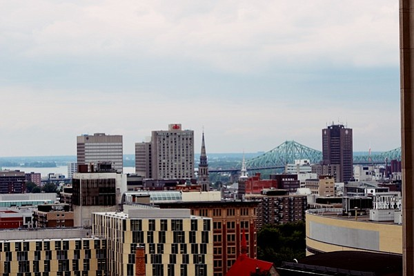 View from rooftop deck of L'Appartement in Montreal