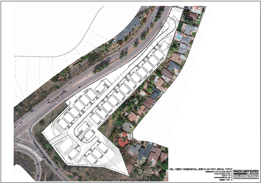 Site plan and aerial topography map