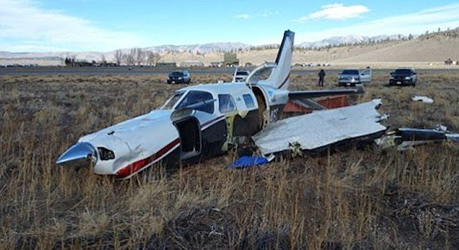Fortunately, pilot and passenger walked away with one minor injury between them