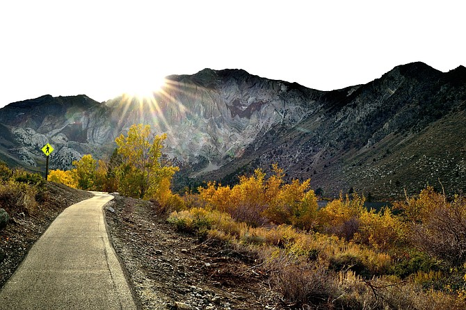 Late afternoon At Convict Lake, Eastern sierras, late october