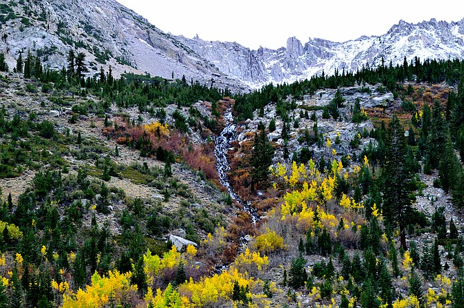 Onion Valley in the Eastern Sierras in the fall.