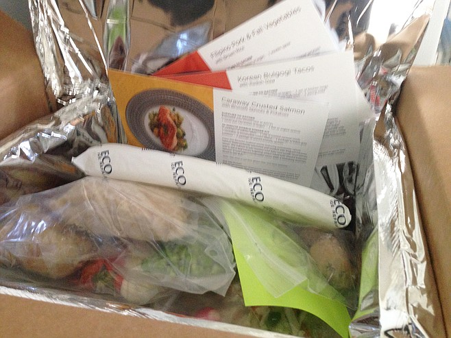 A cooler-box full of ingredients