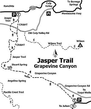 Map of Jasper Trail