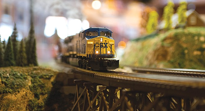 The Old Town Model Railroad Depot - Image by Andy Boyd