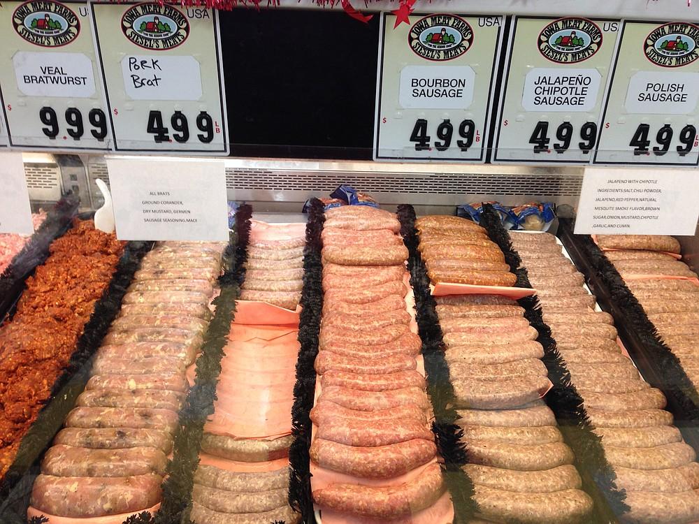 An array of sausage