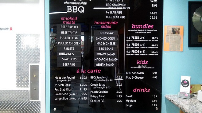 A lot to choose from. If you like barbeque.