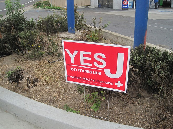 Sign from last year's election cycle