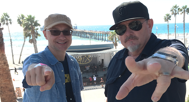 """""""We're getting the band back together,"""" says Garett Michaels (left) and Mike Halloran."""