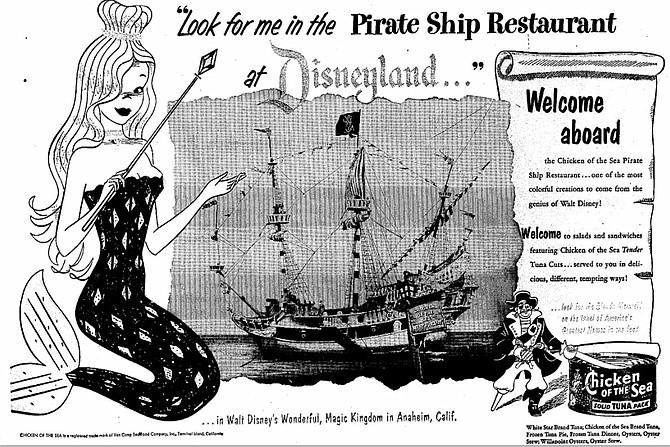 Actual menu item: Hot Tuna Pie. Just $.55 back in 1955!