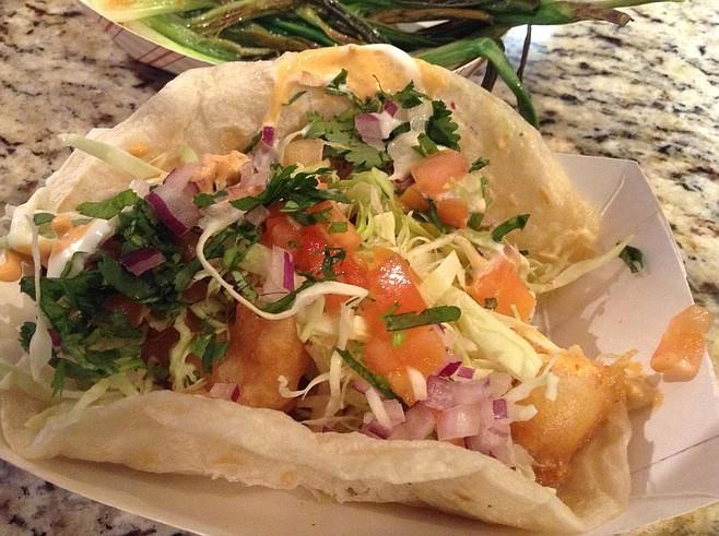 Battered-shrimp taco