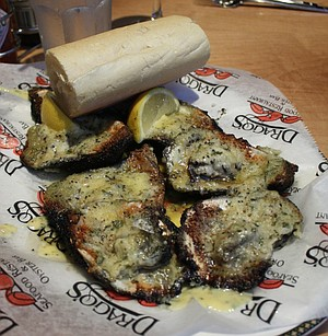Grilled oysters at Drago's.